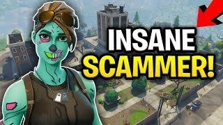 Insane Scammer Loses Rich Inventory (Scammer Gets Scammed) Fortnite Save The World
