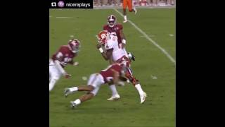 Ruben Foster lays a big hit on Deshaun Watson in the 2017 National Championship