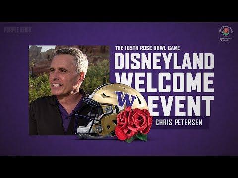 Football: Chris Petersen At Disneyland Welcome Ceremony