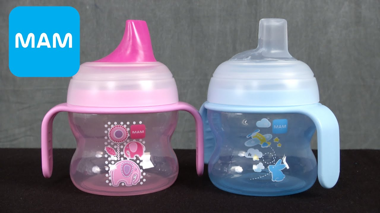 Starter Cups From Mam Youtube Buy 1 Get Free Bottle Anti Colic Blue