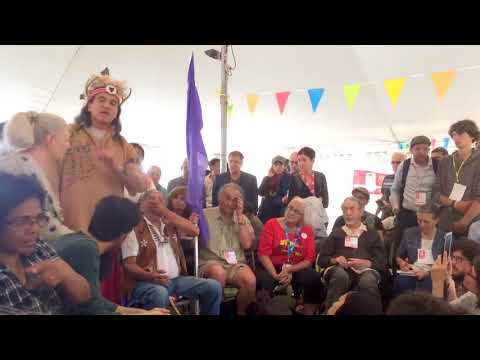 World Social Forum 2016 Montreal   Stuart Myiow Mohawk Nation