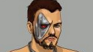 How to draw Kano from Mortal Combat