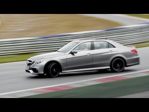 2014 Mercedes E63 AMG - TEST DRIVE on Racetrack