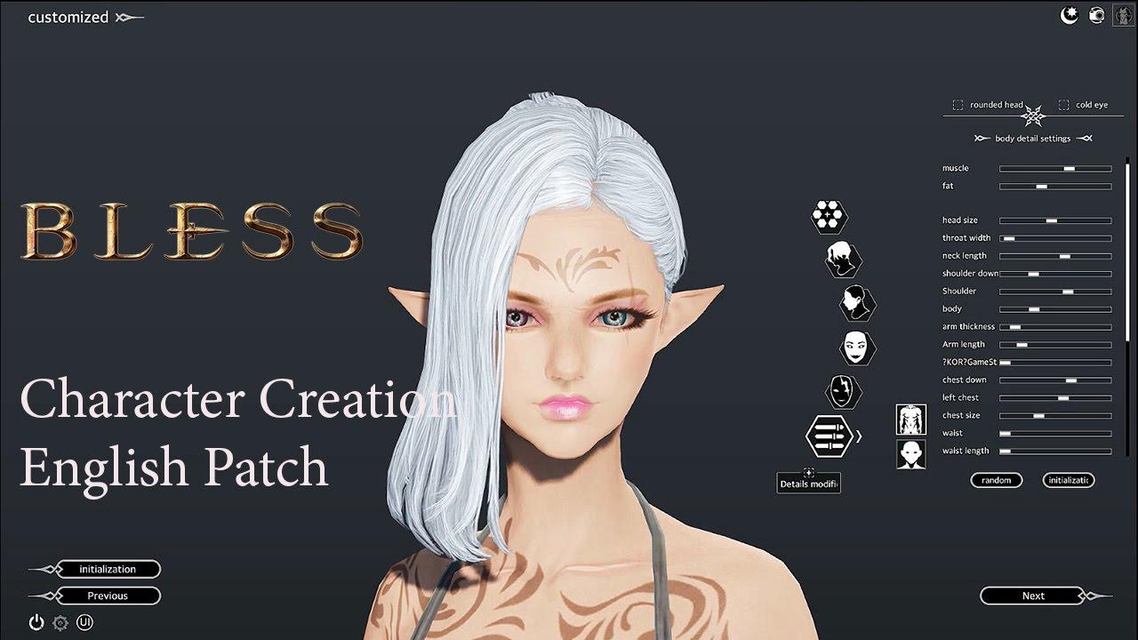 bless online open beta all class character creation