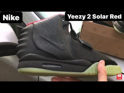 DHgate Nike Air Yeezy 2 Solar red - YouTube