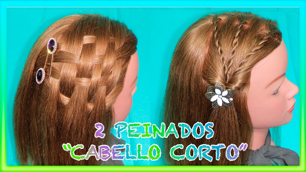 Peinados Faciles Para Cabello Corto 2 Easy Hairstyles For Short