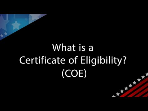 va qa with andrew paul what is a certificate of eligibility coe
