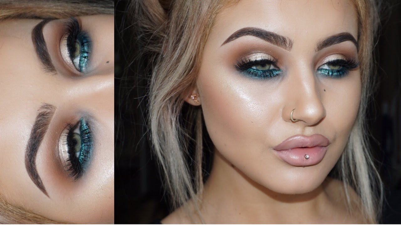 Updated Brow Routineteal Eye Makeup Tutorial Youtube
