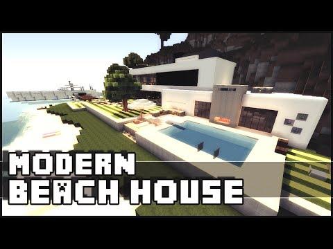 Minecraft - Modern Beach House & Yacht