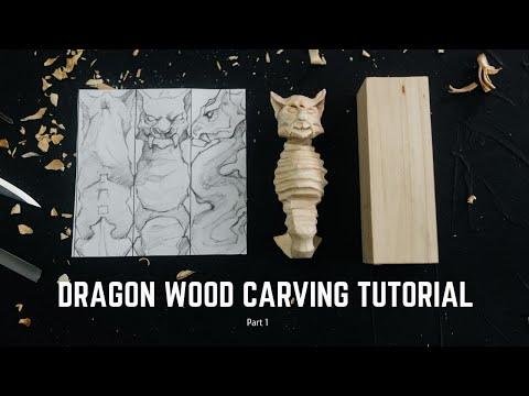 Dragon Wood Carving Tutorial - Part 1