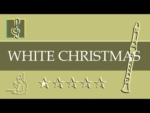 Recorder Notes Tutorial - Christmas song - White Christmas (Sheet Music)