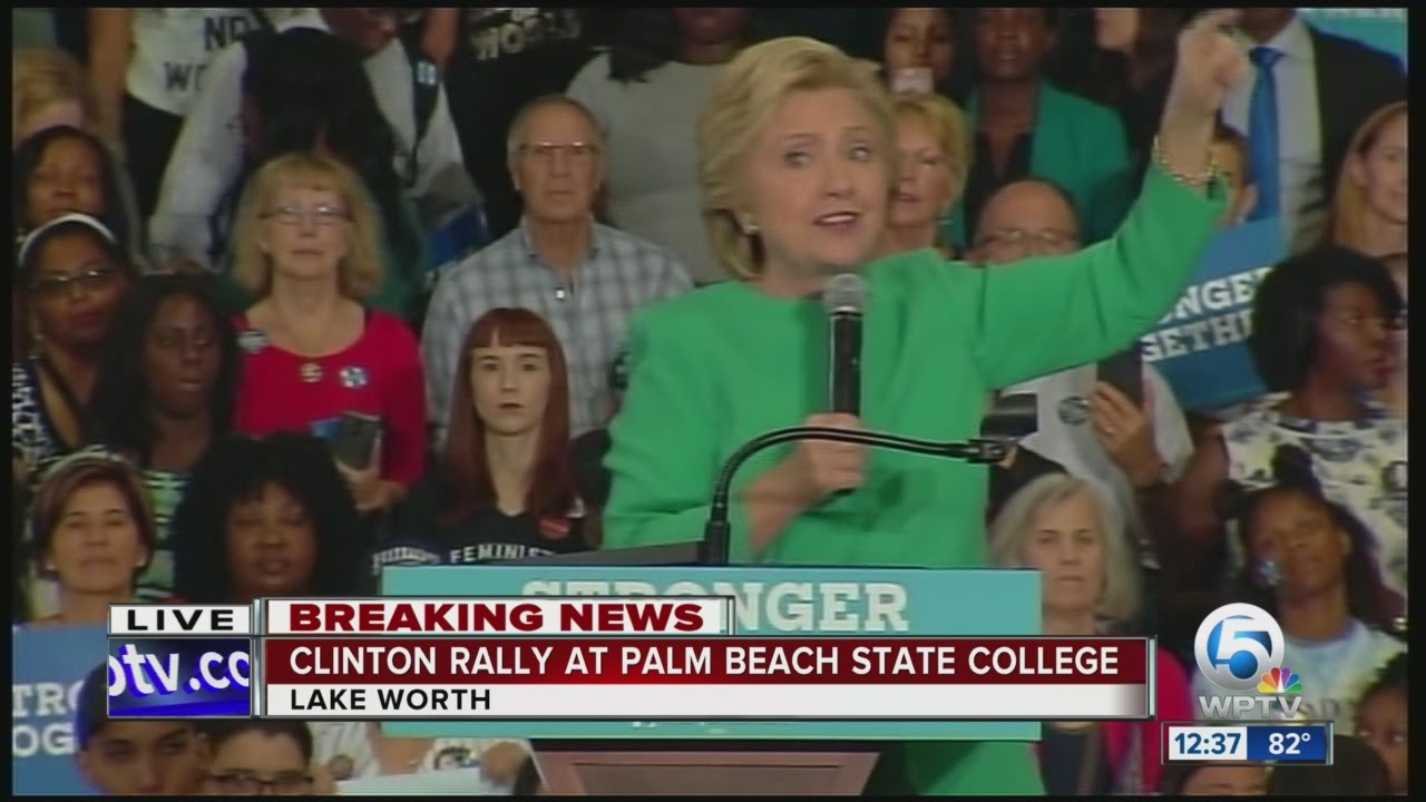 Download Hillary Clinton campaign rally in Lake Worth (10/26/16) Pt. 2