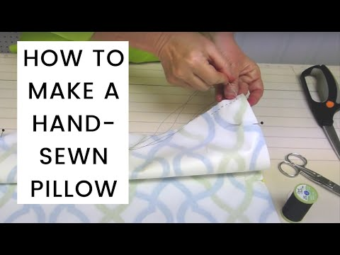 How to make a cushion without a sewing machine
