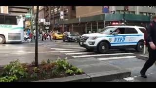 NYPD Midtown North Responding On 8th Ave In Midtown, Manhattan, New York