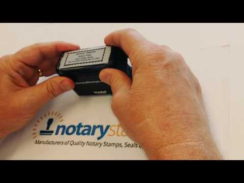 HOW TO USE A NJ  NOTARY PUBLIC STAMP - TRODAT PRINTY 4915