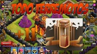 TODO TERREMOTOS |Destruccion de Ayuntamiento |CLASH OF CLANS| Español