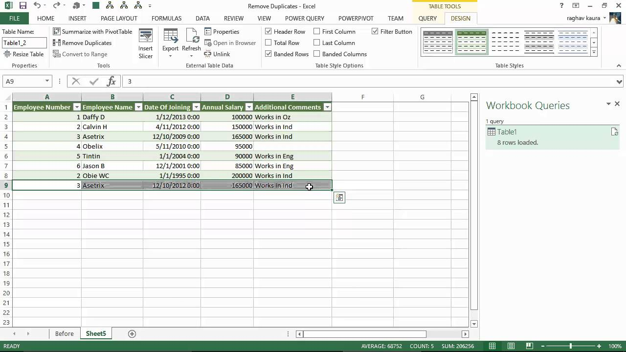 Remove Duplicate data with Excel Power Query