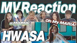eng) HWASA 'MARIA' MV Reaction | 화사 마리아 뮤직비디오 리액션 | Fangirl & Fanboy Moment | J2N VLog