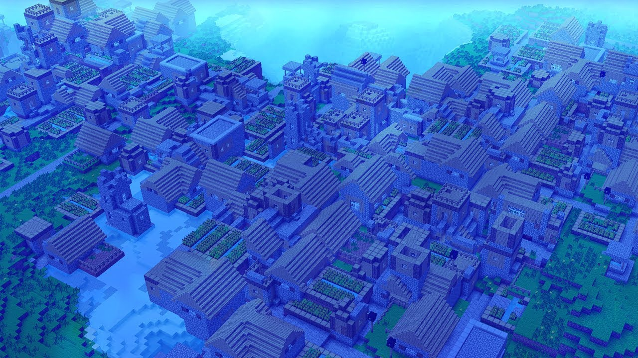 World S Biggest Underwater Minecraft Village Youtube