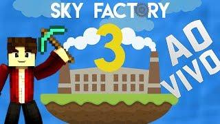 Minecraft ao Vivo: Começando uma incrível jornada em SkyFactory 3 #1