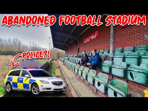CAUGHT BY POLICE In An Abandoned Football Stadium!