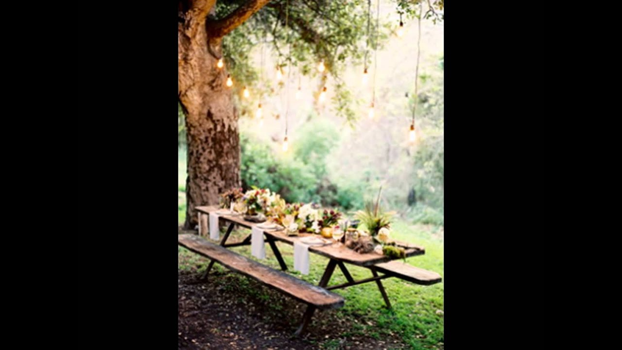 On Picnic Wedding Ideas   Elegant Table Decorations   YouTube