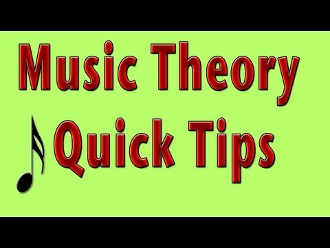 Music Theory Quick Tips 3 Treble Note Names - Music Theory Video Tutorial