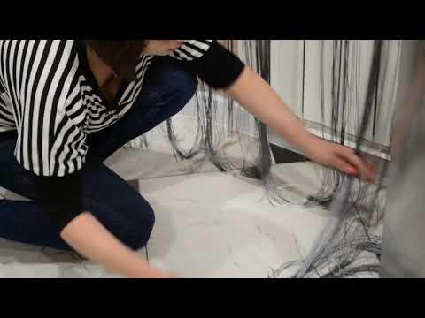 Как обрезать шторы нити видео