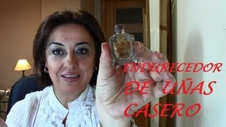 ENDURECEDOR DE UÑAS CASERO. Homemade Nail Hardener.