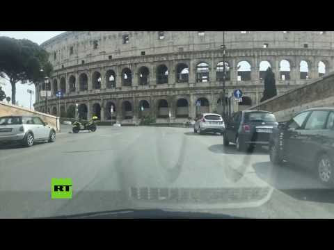 Así son las calles de Roma desiertas