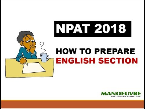 NPAT 2018 - ALL ABOUT ENGLISH SECTION