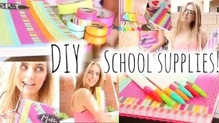 Back To School: Diy School Supplies & Haul! | Girls Only
