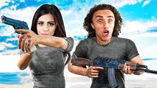 COUPLE vs. 98 ZOMBIES! (PlayerUnknown's BattleGrounds / PUBG Funny Moments)