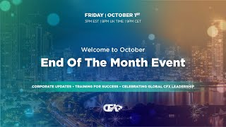 End Of The Month Event | Welcome October