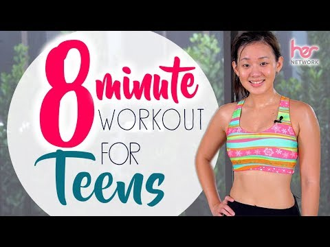 8-Minute Workout For Teens (Back-to-School) | No Equipment | Joanna Soh