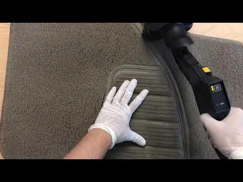 Steam cleaning car carpet floor mats clip 1