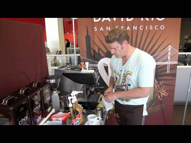 Office Barista Series - How to Make a Pumpkin Pie Chai Latte w/David Rio chai