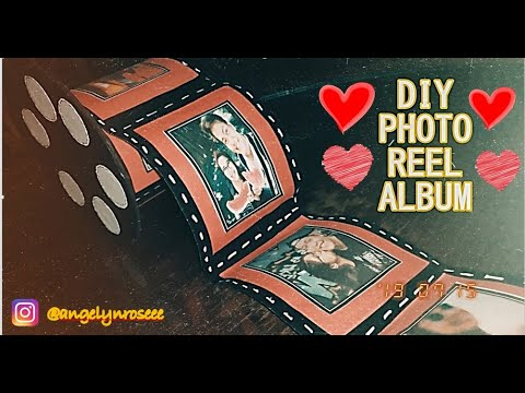 DIY PHOTO REEL ALBUM || EASY WAY || FOR ANNIVERSARY AND OTHER OCCASIONS