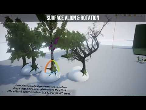 Dynamic Tree & Plant Generator for Unreal Engine 4