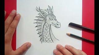 Como dibujar un dragon paso a paso 20 | How to draw a dragon 20