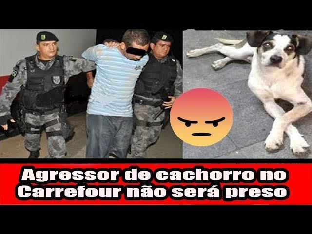 Agressor de cachorro no Carrefour não será preso
