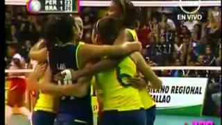 Perú 3-2 Brasil-Final Sudamericano voley femenino menores 2012 (Coliseo Miguel Grau, Callao)