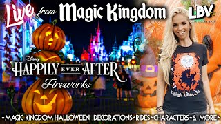 🔴LIVE: Halloween Decor at Magic Kingdom, Happily Ever After Fireworks, and more Disney World fun!