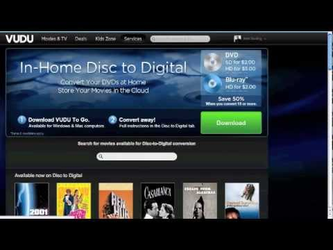 "Tutorial: How To Use VUDU ""Disc to Digital"" To Convert DVD"