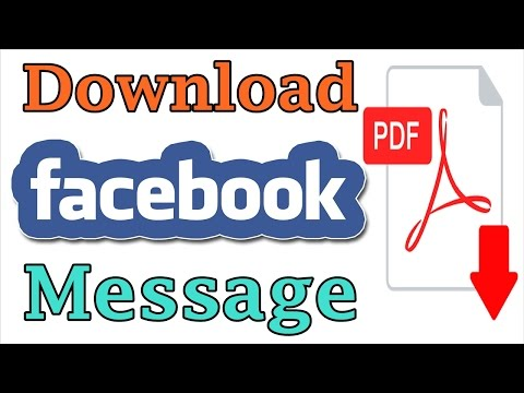 Download Facebook Messages OR Facebook Chat In Computer As A PDF File