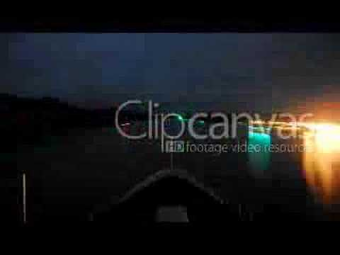 Stock footage - Panama Canal timelapse as seen from boat with lights