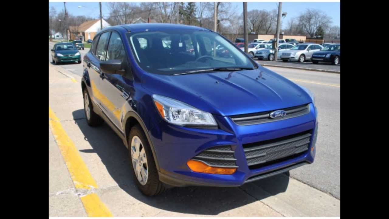 2013 Ford Escape S Deep Impact Blue Metallic Youtube