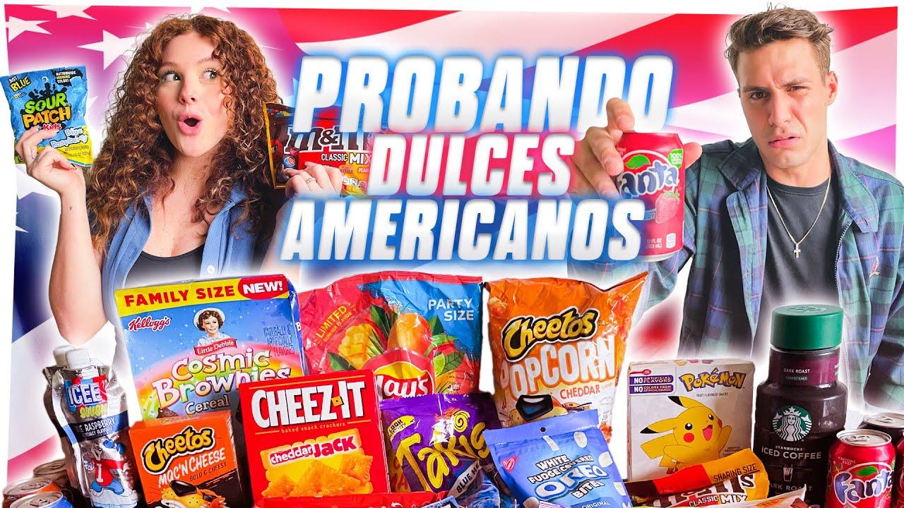 PROBANDO DULCES AMERICANOS MUY RAROS ll Briggi Bozzo y Conra