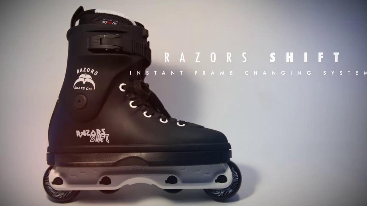 Inline-Skates Razors Shift 2 Aggressive Inline Skates Mens 9.0 NEW