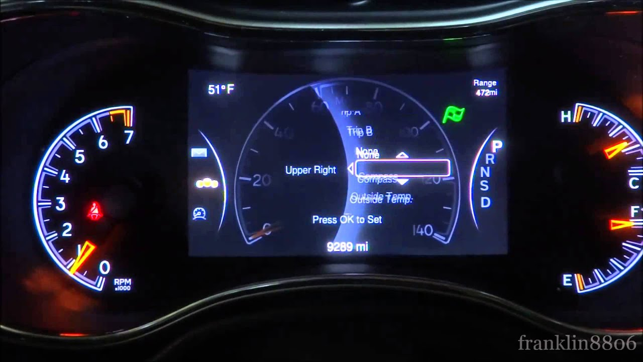 2014 Jeep Grand Cherokee Limited Configurable 7-inch ...